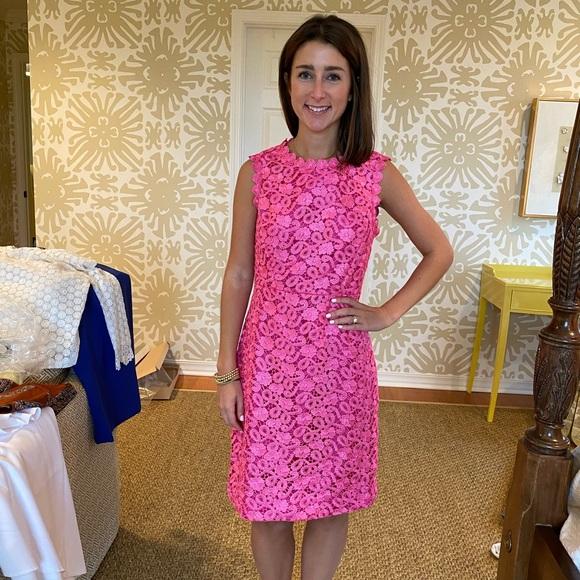 Pink Kate spade lace dress
